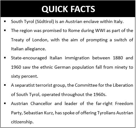 Quick Facts South Tyrol